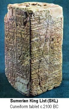 the earliest sumerian history is related in the sumerian